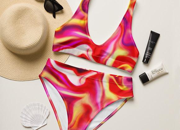 Magma Recycled high-waisted bikini