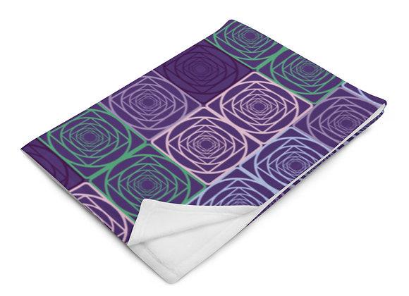 Bloom Throw Blanket in Purple