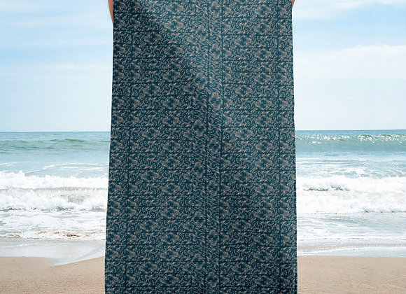 Diamond Scroll Towel in Jewel
