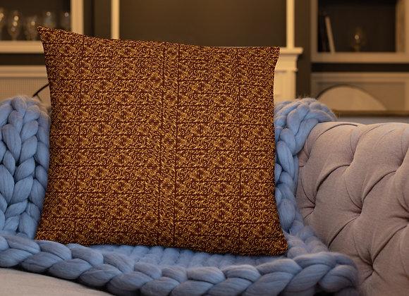 Diamond Scroll Pillow in Ember