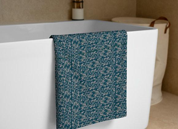Diamond Scroll Towel in Jewel