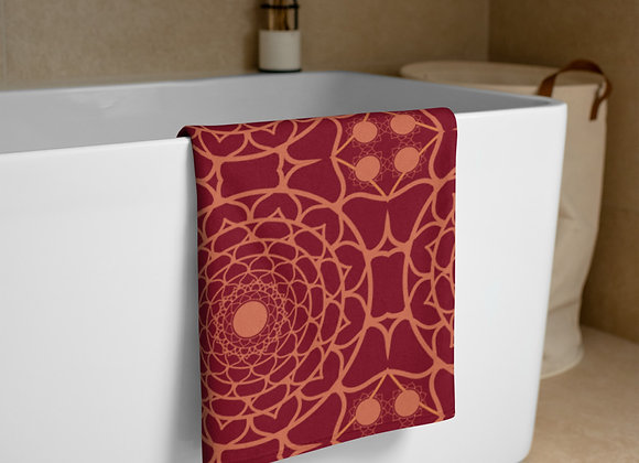 Flower Mandala Towel in Ember