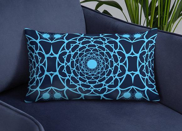 Flower Mandala Pillow in Polar