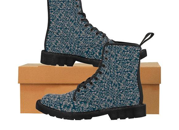 Diamond Scroll Women's Canvas Boots