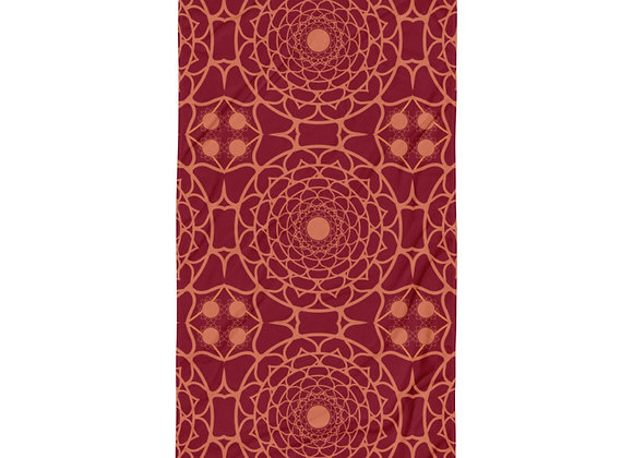 Flower Mandala Towel in Ember