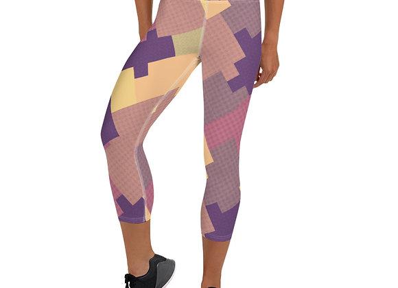 Purple Patch Capri Leggings