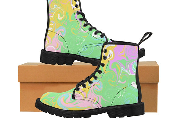 Pastels Women's Canvas Boots