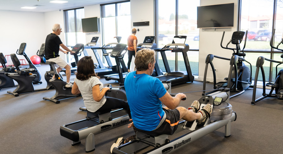 La Dimora Retirement Resort residents working out in the premium gym