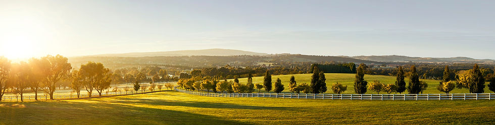 View over the picturesque Hidden Valley Resort, 45 minutes from Melbourne