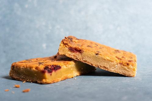Brownie- White Chocolate, Macadamia, Pistachio & Raspberry from Mount Macedon Trading Post Cafe