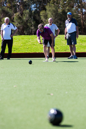 Country Club members enjoying a game of lawn bowls on the premium green at Hidden Valley Resort near Wallan victoira