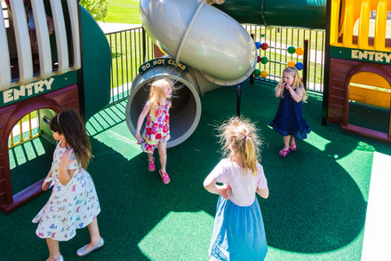 Kids enjoying the premium playground at The Grove at Hidden Valley near Wallan Victoria