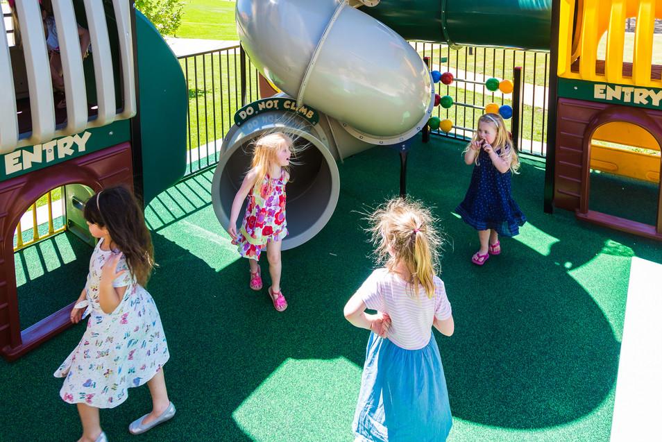 Kids enjoying the premium playground at The Grove at Hidden Valley near Wallan Victoria