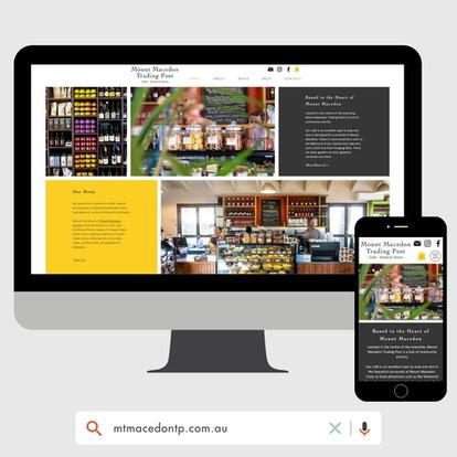 Mount Macedon Trading Post Website Design by KGMG Creative Macedon Ranges