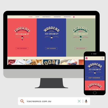 Ice Cream Co Website Design by KGMG Creative Macedon Ranges
