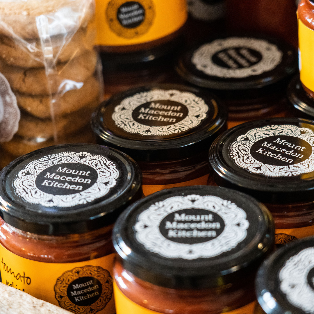 Mount Macedon Kitchen house made jams and chutney at Mount Macedon Trading Post cafe