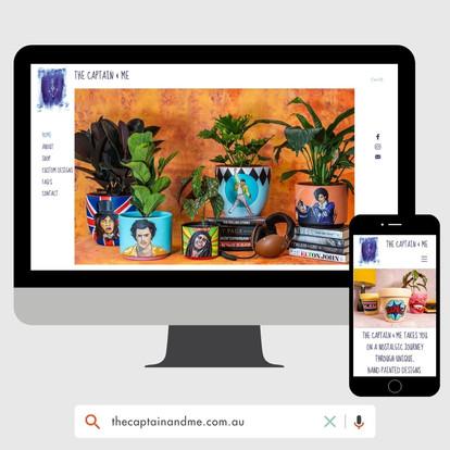 The Captain & Me Website Design by KGMG Creative Macedon Ranges