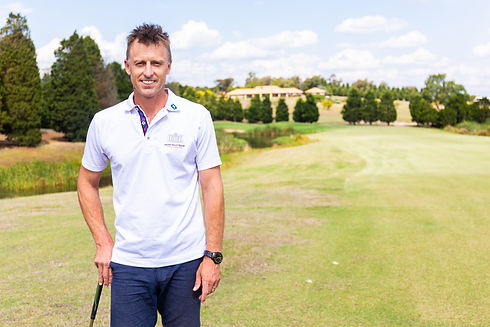 Golf professional Nathan Roberts who is available for golf lessons at Hidden Valley resort country club 45 minutes from Melbourne