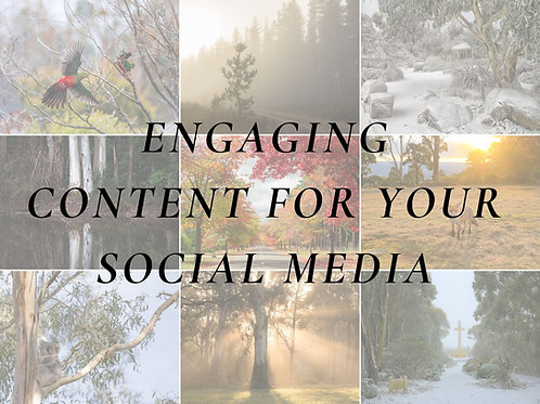 How to produce Engaging  Content for your  Socials  - Class
