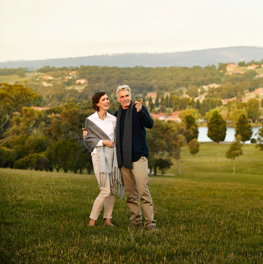 residents enjoying the view over hidden valley near La Dimora retirement community one hour north of Melbourne