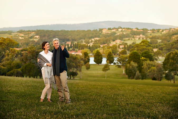 Residents enjoying the view over picturesque Hidden Valley near La Dimora Retirement village