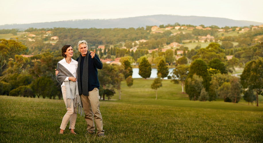 residents of La Dimora Retirement Community enjoying the view over hidden valley just 1 hour north of Melbourne