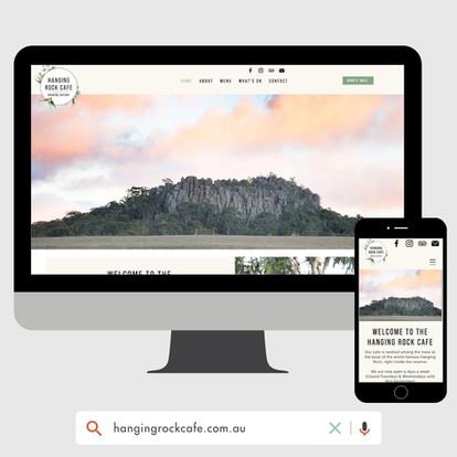 Hanging Rock Cafe Website Design by KGMG Creative Macedon Ranges
