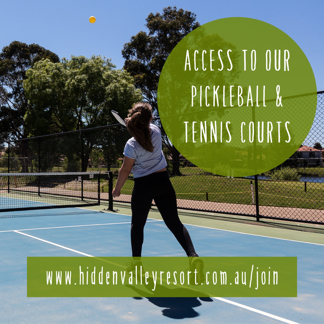 Access to our picketball and tennis courts for Hidden Valley resort country club members