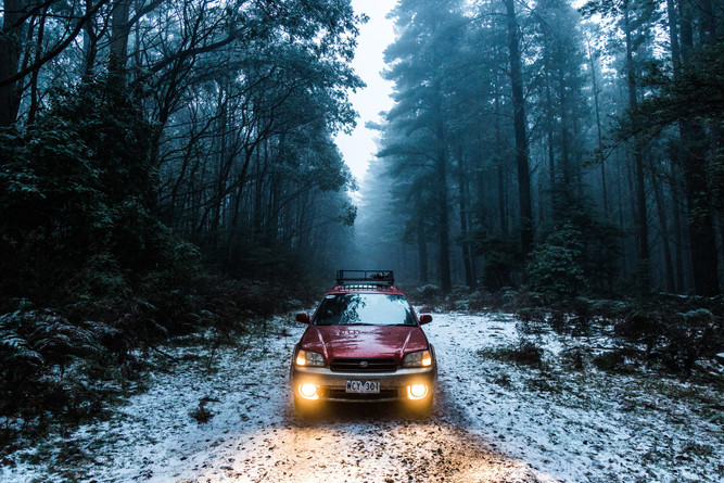 Snow on Mount Macedon
