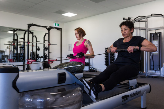 Country club members using the state of the art fitness gym facilities at Hidden valley resort 45 minutes from Melbourne