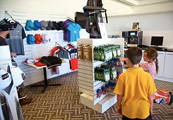 Kids browsing the sports hub retail store at Hidden Valley Resort Country Club just 45 minutes from Melbourne