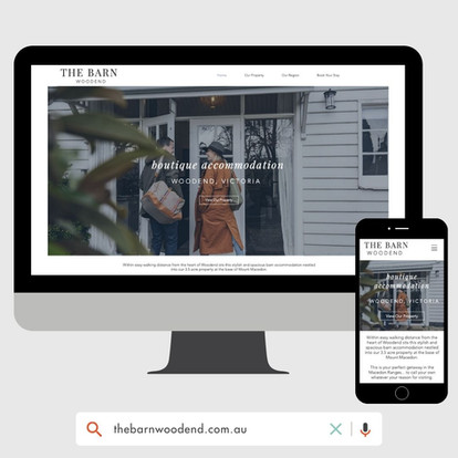 The Barn Woodend Website Designed by KGMG Creative