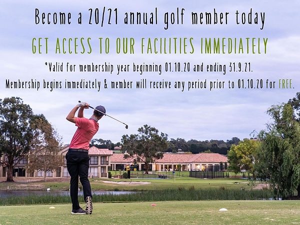Become a golf member at Hidden Valley resort country club just 45 minutes from Melbourne