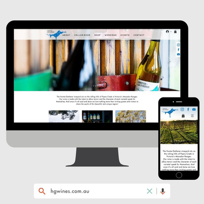 Hunter Gatherer Website Design by KGMG Creative Macedon Ranges