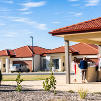 Premium outside comunal area with barbeque for residents of La Dimora retirement village to enjoy