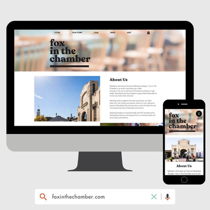 Fox In The Chamber Website Design by KGMG Creative Macedon Ranges