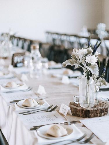 Wedding Table layout at Mount Macedon Winery