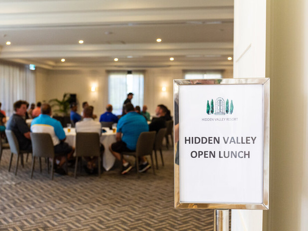 Hidden Valley Open Lunch in the premium event space perfect for corprate functions, just 45 minutes from the CBD