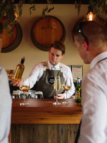Wine tasting at Mount Macedon Winery