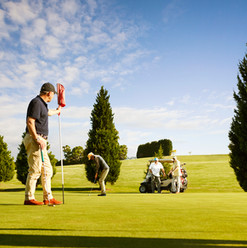 residents out enjoying the PGA golf course part of the premium facilties at La Dimora retirement community 1 hour north of Melbourne