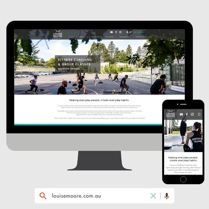 Louise Moore Fitness Website Design by KGMG Creative Macedon Ranges
