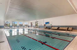 The large heated pool at Hidden Valley Resort country club near Wallan Victoria