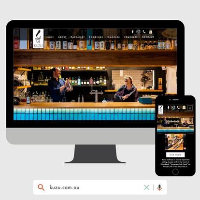 Kuzu Izakaya Website Design by KGMG Creative Macedon Ranges
