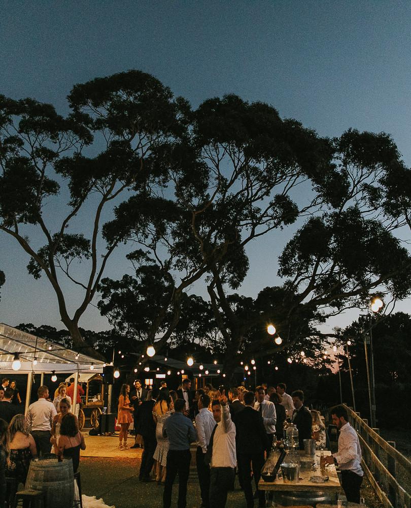 Evening wedding at Mount Macedon Winery