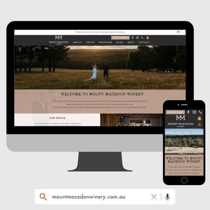 Mount Macedon Winery Website Design by KGMG Creative Macedon Ranges