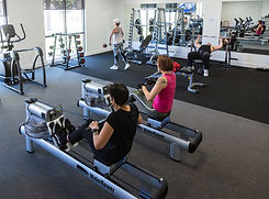 Country club members enjoying the premium gym facilities at Hidden Valley resort 45 minutes from Melbourne