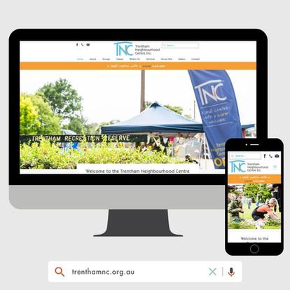Trentham Neighbourhood Centre Website Design by KGMG Creative Macedon Ranges