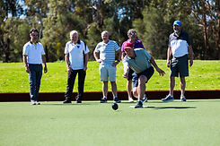 Country club members enjoying the premium bowling green at Hidden valley resort near Wallan Victoria