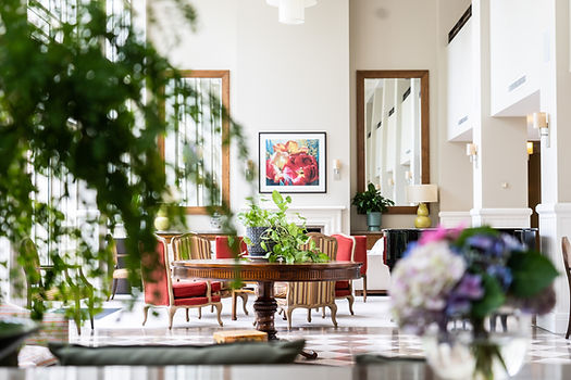Bright modern interior decoration in communal areas of Rylands retirement village in Melbourne's inner east