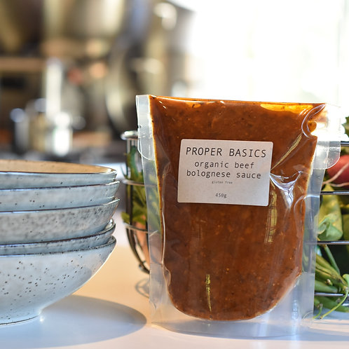 Proper Basics Organic Beef Bolognese 450g